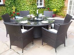 Bali Rattan Garden Furniture by Sidney Grey Rattan Garden Or Conservatory Round Dining Table And 6