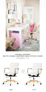 White Chair Desk by Rachel George White Vegan Leather Gold Office Chair Copycatchic