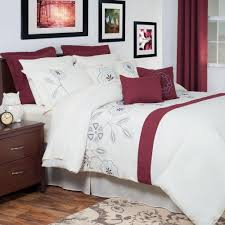 Embroidered Bedding Sets Olivia Red Embroidered 13 Piece Queen Comforter Set 66 19 Q The