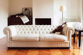 Deep Tufted Sofa Leather Sectional Sofa - Kings sofa