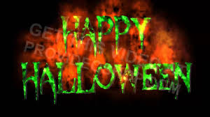 halloween background green animated happy halloween green text with fire background youtube