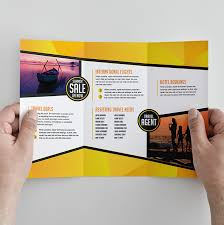 trifold brochure template for travel agencies by graphicmore