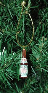 miniature micro heinz tomato ketchup bottle ornament