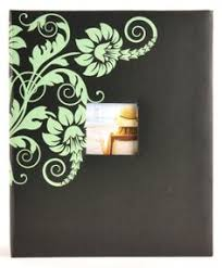 400 pocket photo album mcs mbi 823345 200 pocket album with 3 d flower image