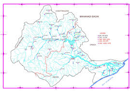 India River Map by Regional Offices Central Water Commoission