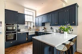 navy blue and white kitchen cupboards kitchen herringbone kitchens