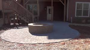 belgard fire pit paver patio and fire pit in fort mill at bridgemill youtube