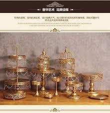 gold cake stands 12pcs set wedding metal gold cake stand cupcake pan display