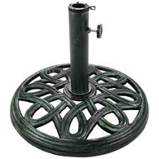 Patio Umbrella And Stand by Round Cast Iron Outdoor Patio Umbrella Base Stand 17 Inch