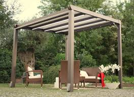 Pergola Designs With Roof by Exterior Design Inspiring White Pergola Plans With Deck And Chair
