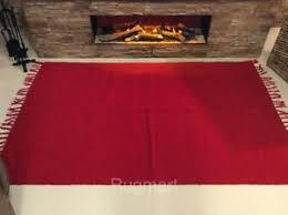 Red Washable Rug Eco Friendly Plain Red Natural Cotton Kilim Dhurrie Washable Rug
