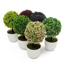 aliexpress com buy artificial topiary tree ball plant flowers