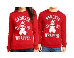 gangsta wrapper elf christmas sweater unisex pick color