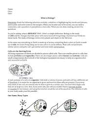 Prentice Hall Biology Worksheet Answers What Is Biology Odyssey Charter