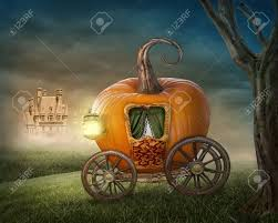 cinderella pumpkin carriage pumpkin carriage isolated on white background stock photo picture