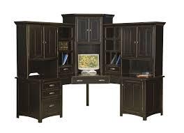 Black Corner Computer Desk With Hutch Functions Corner Computer Desk With Hutch Home Design Ideas For