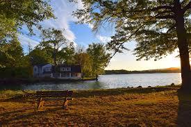 free photo sunset tree lake autumn bench free image on