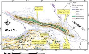 Caucasus Mountains On World Map by Cenozoic Recent Tectonics And Uplift In The Greater Caucasus A