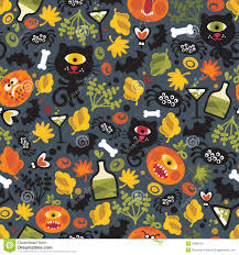 halloween seamless background seamless halloween background with monsters royalty free stock