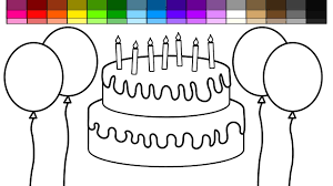 learn colors for kids and color chocolate birthday cake and