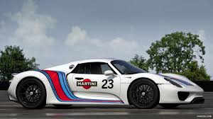 porsche racing wallpaper porsche 918 spyder prototype in martini racing design side hd