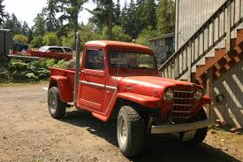 old truck jeep old parked cars 1952 willys jeep truck