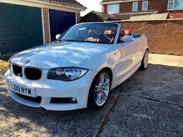 bmw 118d 2010 m sport convertible manual diesel white red leather