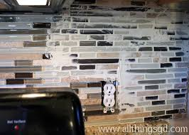 with my tiles set it was time to start grouting you really only - Grout Kitchen Backsplash