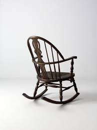Antique Pressed Back Rocking Chair Antique Windsor Rocking Chair With Rush Seat U2013 86 Vintage
