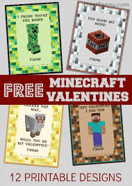minecraft cards free printable minecraft valentines day cards meet