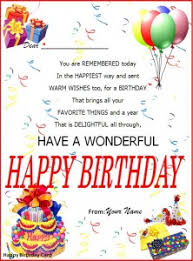 birthday card templates word excel templates