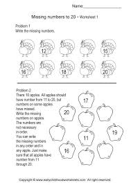 missing number worksheets