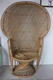 Cane Peacock Chair For Sale Wicker Rattan Fan Back Peacock Chair Vintage In Oneida County