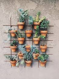 outdoor wall decor ideas with wood plants and lights walls