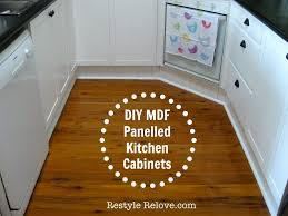 diy kitchen cabinets mdf diy mdf panelled kitchen cabinets