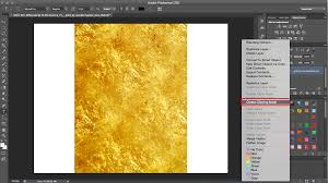 How To Create A Gold Foil Effect In Photoshop Clipping Mask