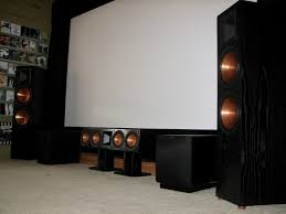 klipsch rf 52 ii home theater system movie room screen wall update 2 home theater showcase the