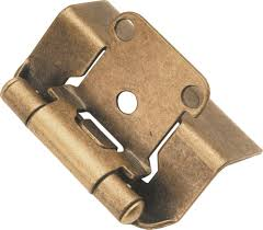 hickory hardware p5710f ab semi concealed full wrap hinge antique
