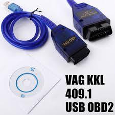 vag com cable audi obd2 ii usb cable kkl vag com 409 1 obd vw audi seat skoda auto