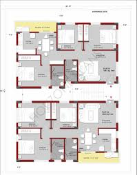 apartment building floor plans for 2 or 3 bhk flats on a typical