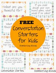 free printable conversation starters for lunchtime laughs