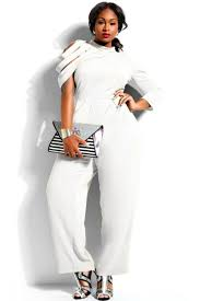 white plus size jumpsuit cheap white asymmetric sleeves high waist plus size jumpsuit plus