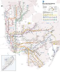 Subway Map Manhattan The Current Ny Subway Map With Background Colours Transit Maps