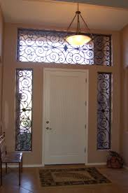 image of diningroom front door window curtains country style front