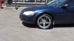 hillyard custom rim u0026tire 2006 chrysler sebring rolling on 19