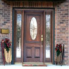 Solid Wooden Exterior Doors Alluring Wooden Front Doors With Glass For Luxurious Exterior Nu