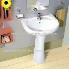 Pedestal Sink Sizes Bathroom Pedestal Sink 1 Size 22x16 2 Colour Available White
