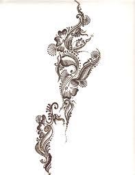 henna leg foot tattoo designs