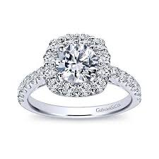 round halo rings images Low set round halo engagement ring gabriel co er7480 jpg