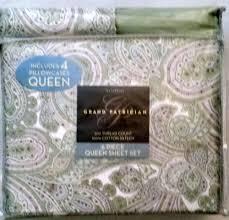 Piubelle Bedding 6 Pc Queen Sheet Set Westpoint Grand Patrician Paisley Print 100